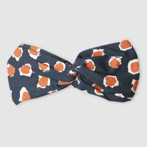 Painted Dot Blue and Orange Adult Headband