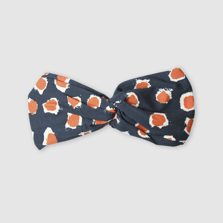 Painted Dot Blue and Orange Kids Headband