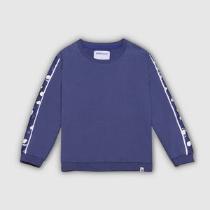 Painted Dot Panel Sweatshirt