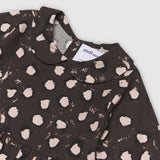 Painted Dot Collar Brown Dress