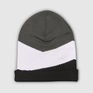 Knitted panel beanie