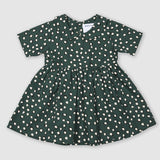 Painted Dot Green Collar Dress