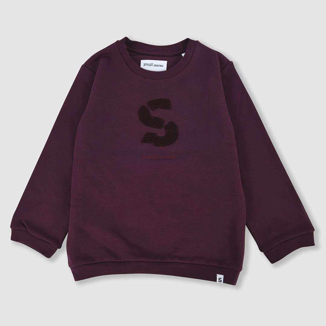 Small Stories Burgandy Sweater