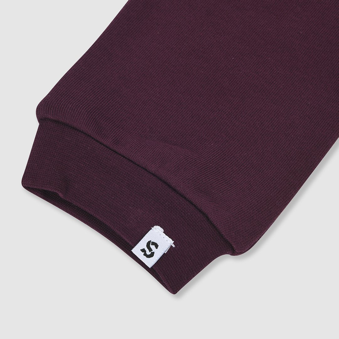 Burgundy Cotton Joggers