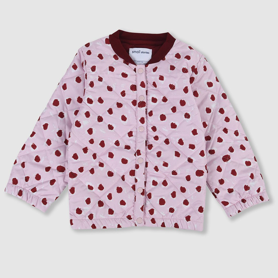 Painted Dot Padded Quilted Jacket