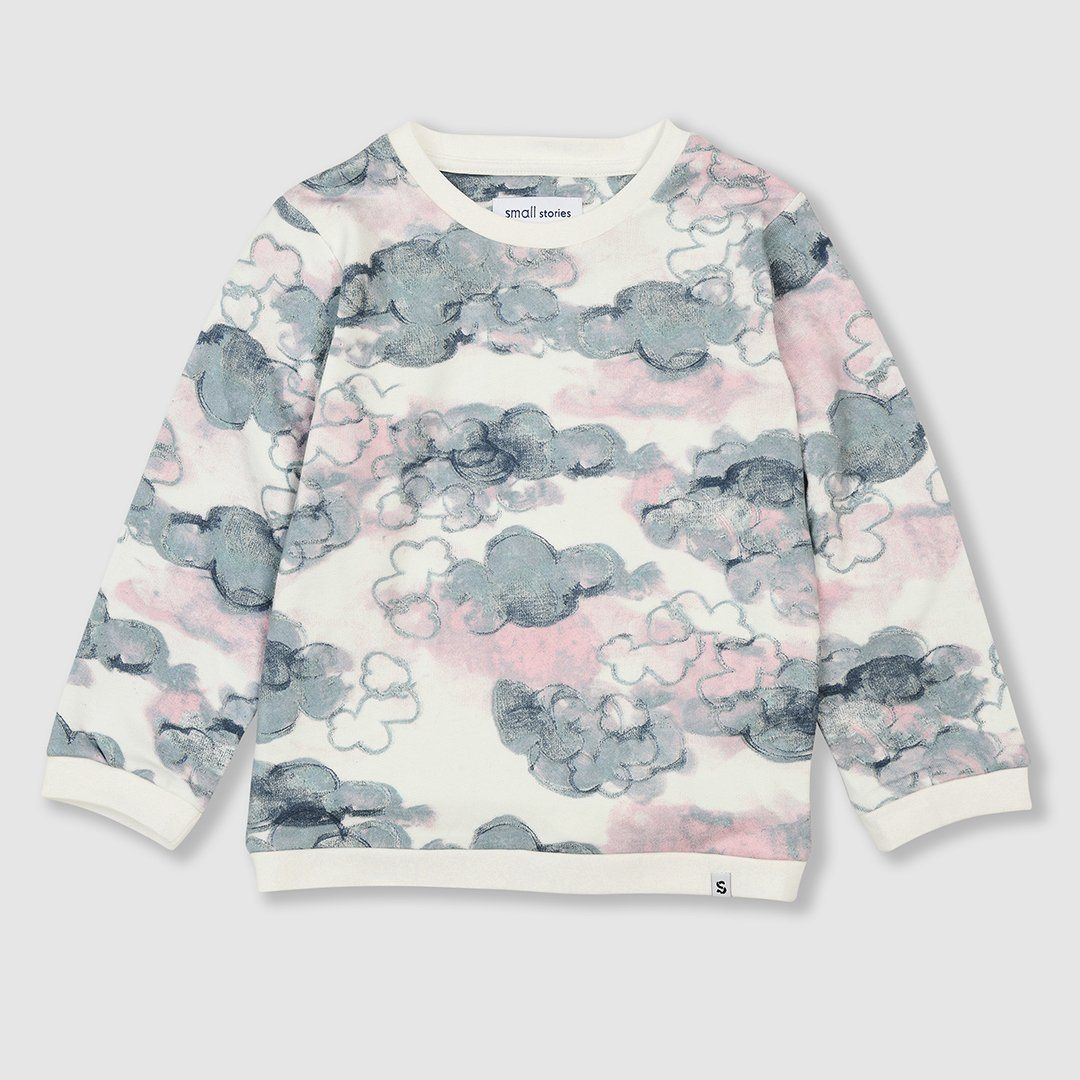 Cloud Print Sweatshirt
