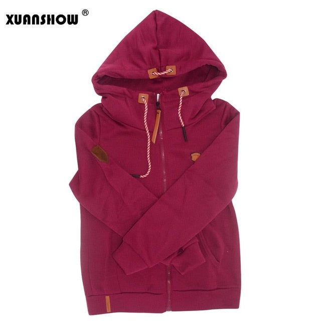 Women's Long Sleeve Zip Up Hoodie