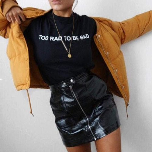 Too Rad To Be Sad Missy Tee