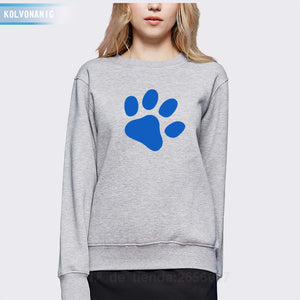 Cute Footprint Printed Hoodies