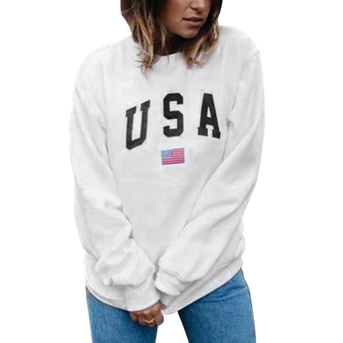 USA Letter Printed Pullover