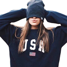 Load image into Gallery viewer, USA Letter Printed Pullover