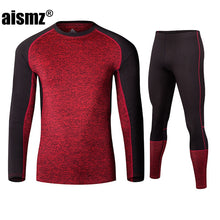 Load image into Gallery viewer, Men's Breathable Fleece Thermal Underwear Sets