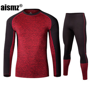Men's Breathable Fleece Thermal Underwear Sets