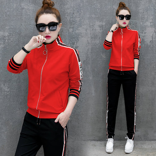 Women's Fleece Crop Tops Two-Piece Sets