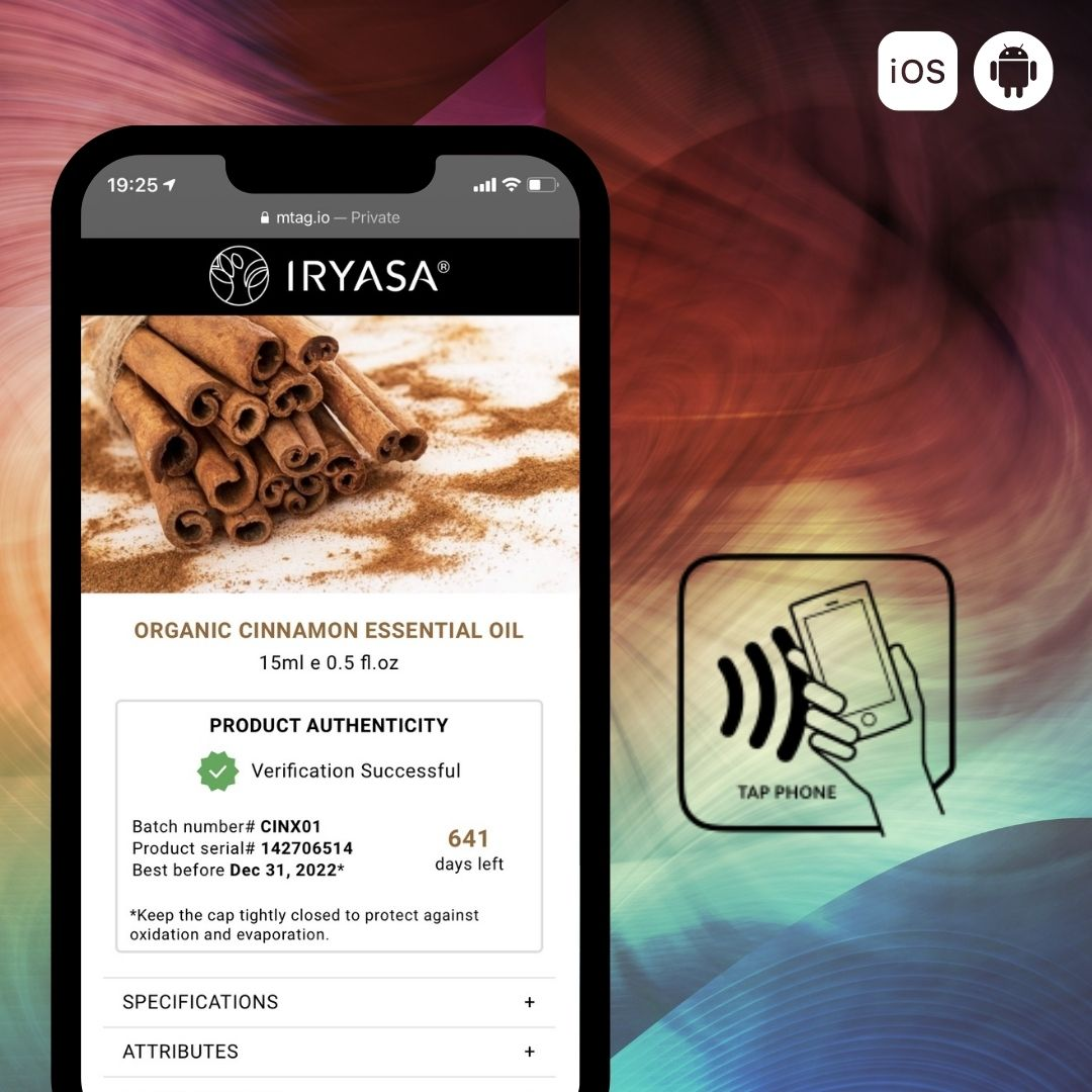 Iryasa's NFC powered exclusive product experience - Connected and Intelligent Packaging