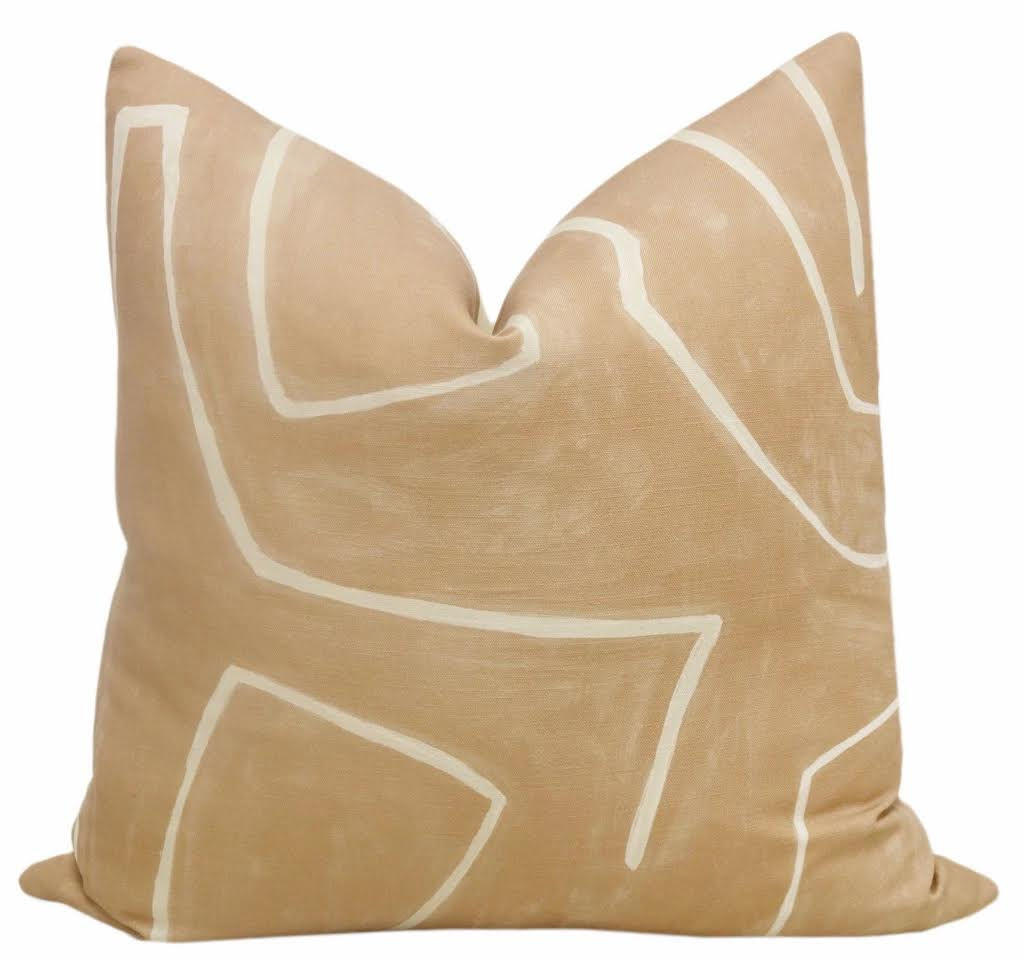 KW Peach Abstract Pillow- 3 Sizes