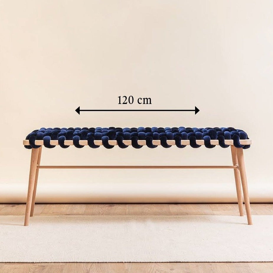 120cm Woven Knot Bench- 9 Color Variants