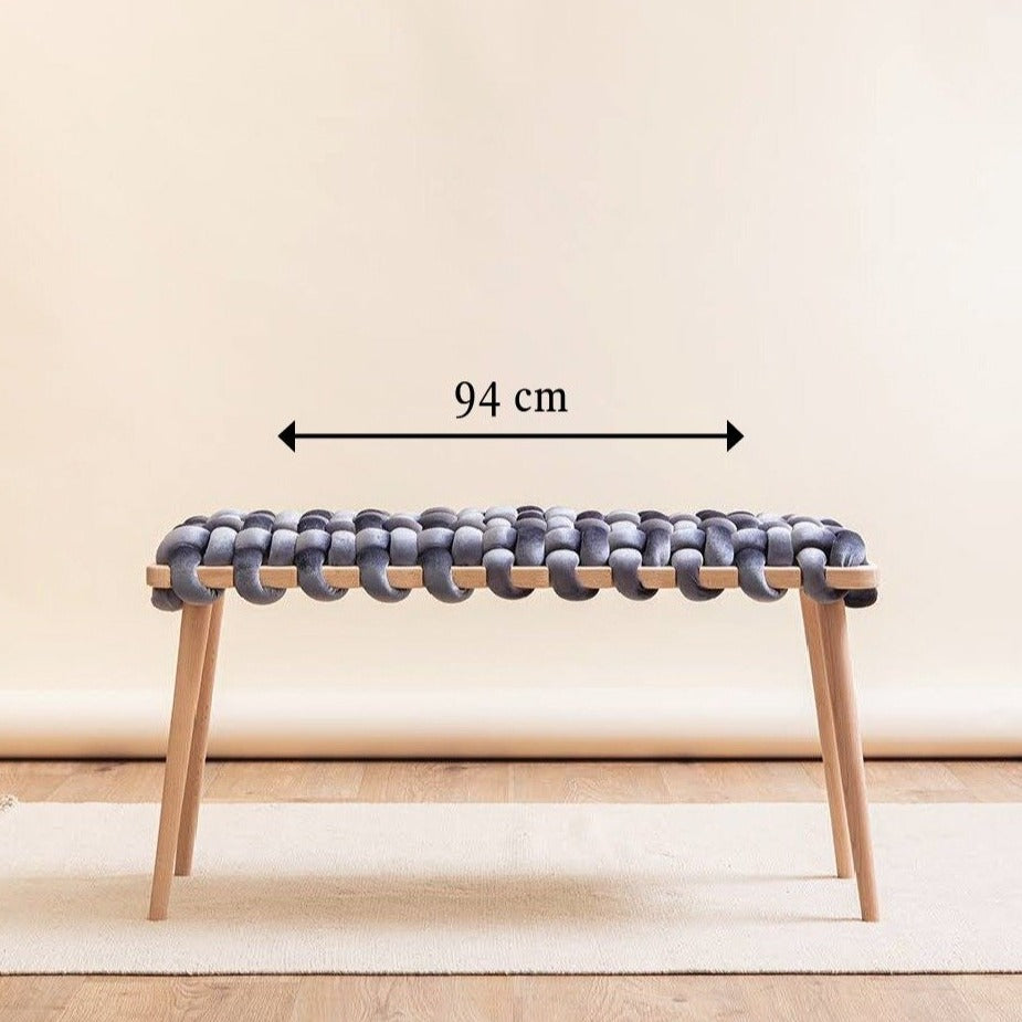 Medium Woven Knot Bench- 9 Color Variants