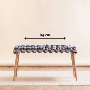 94cm Woven Knot Bench- 9 Color Variants