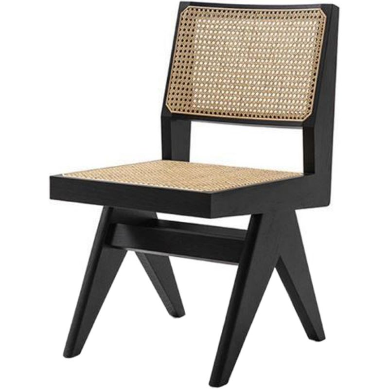 Cane Dining Chair Armless