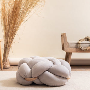 Small Suede Knot Pouf- 8 Color Variants
