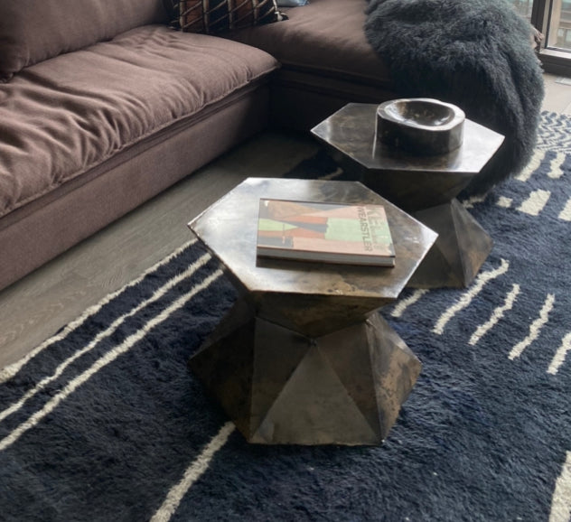 Copper Side Table (2 available)