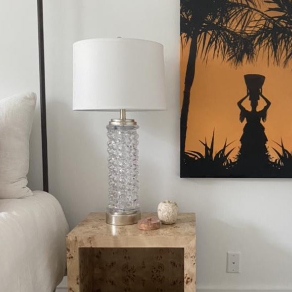 Clear Glass Lamp (2 available)
