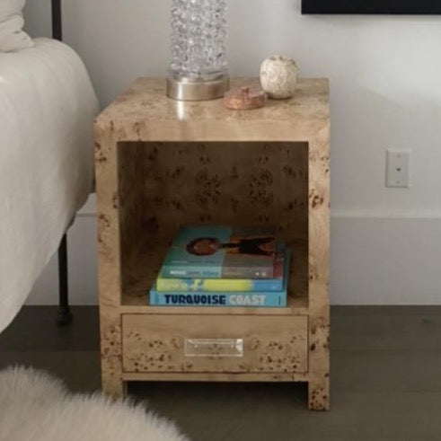 Burlwood Side Table (2 available)