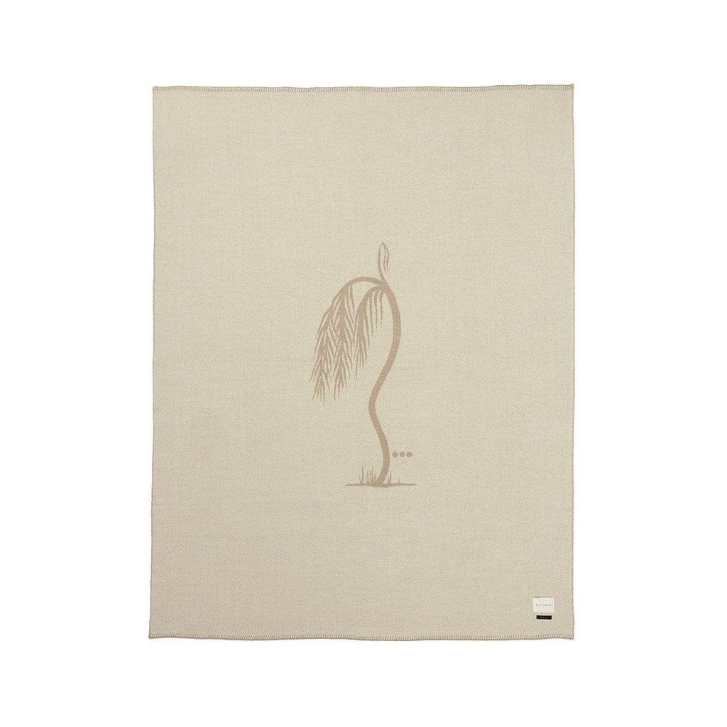 Palm Reversible Throw - Ivory/Rucksack