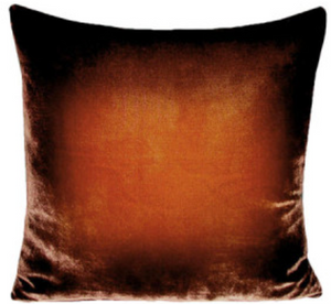 Golden Brown Velvet Pillow