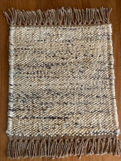Cream Grey Multicolor Sisal Rug
