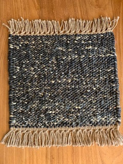 Black Cream Multicolor Sisal Rug