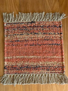 Orange Natural Multicolor Sisal Rug