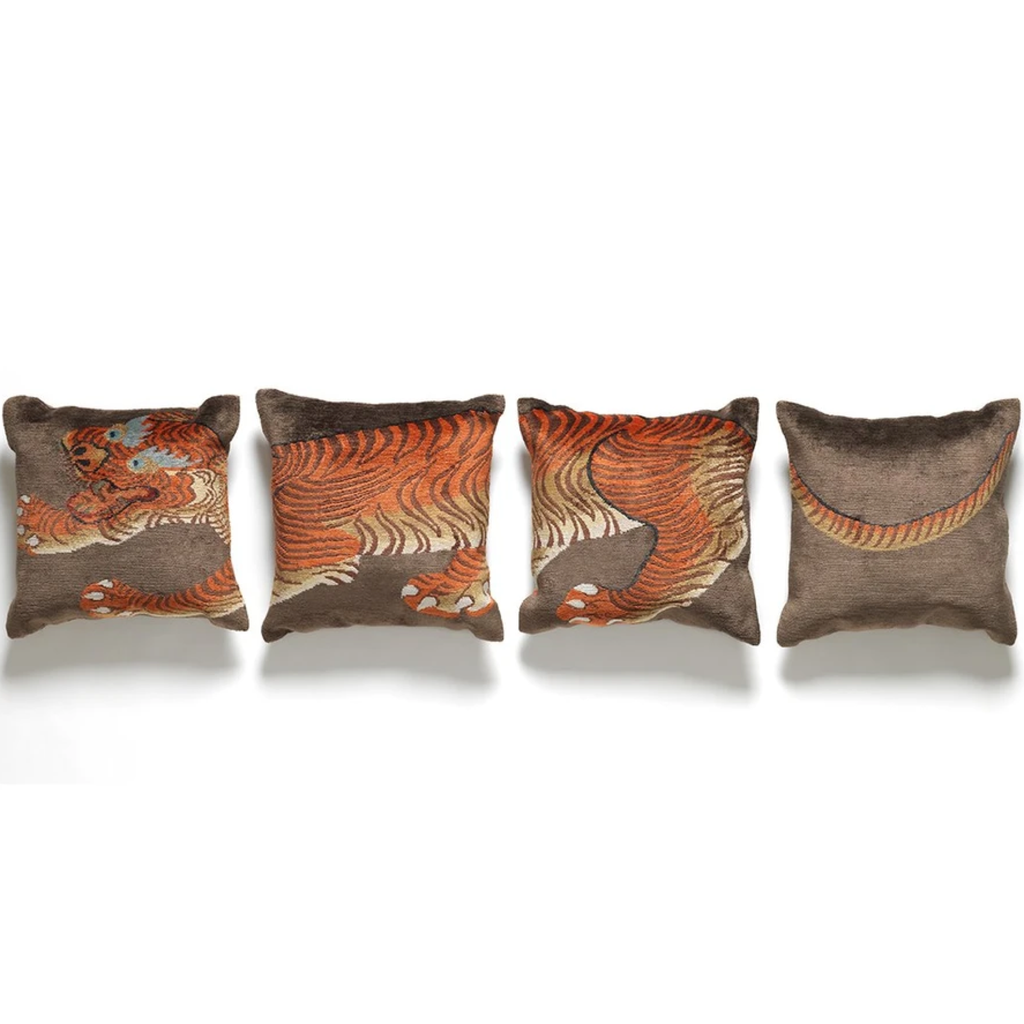 Tiger Silk Pillows- Set of 4