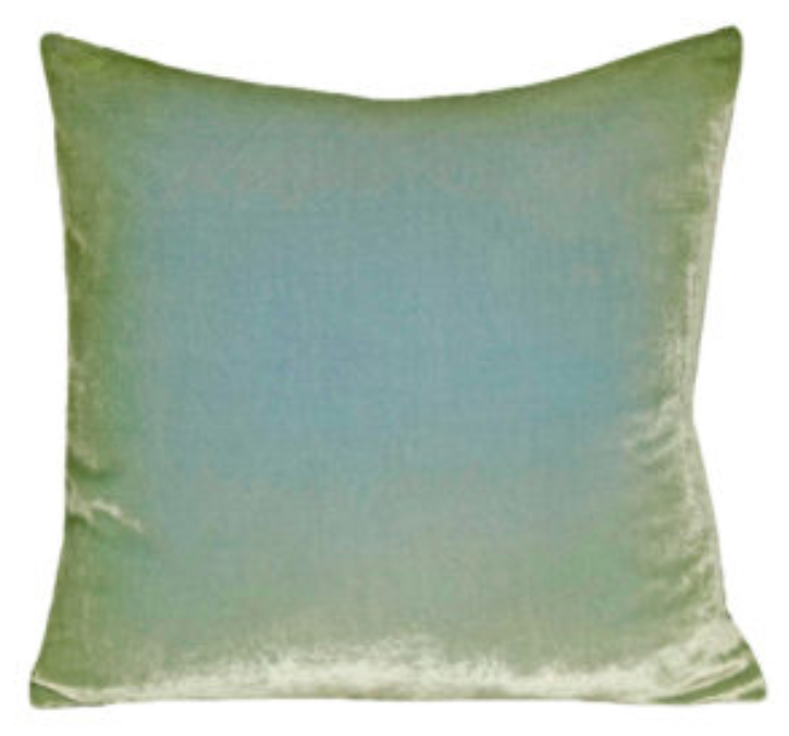 Light Sage Velvet Pillow