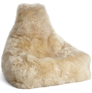 Cream Sheepskin Beanbag