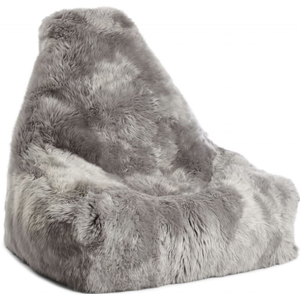 Grey Sheepskin Beanbag