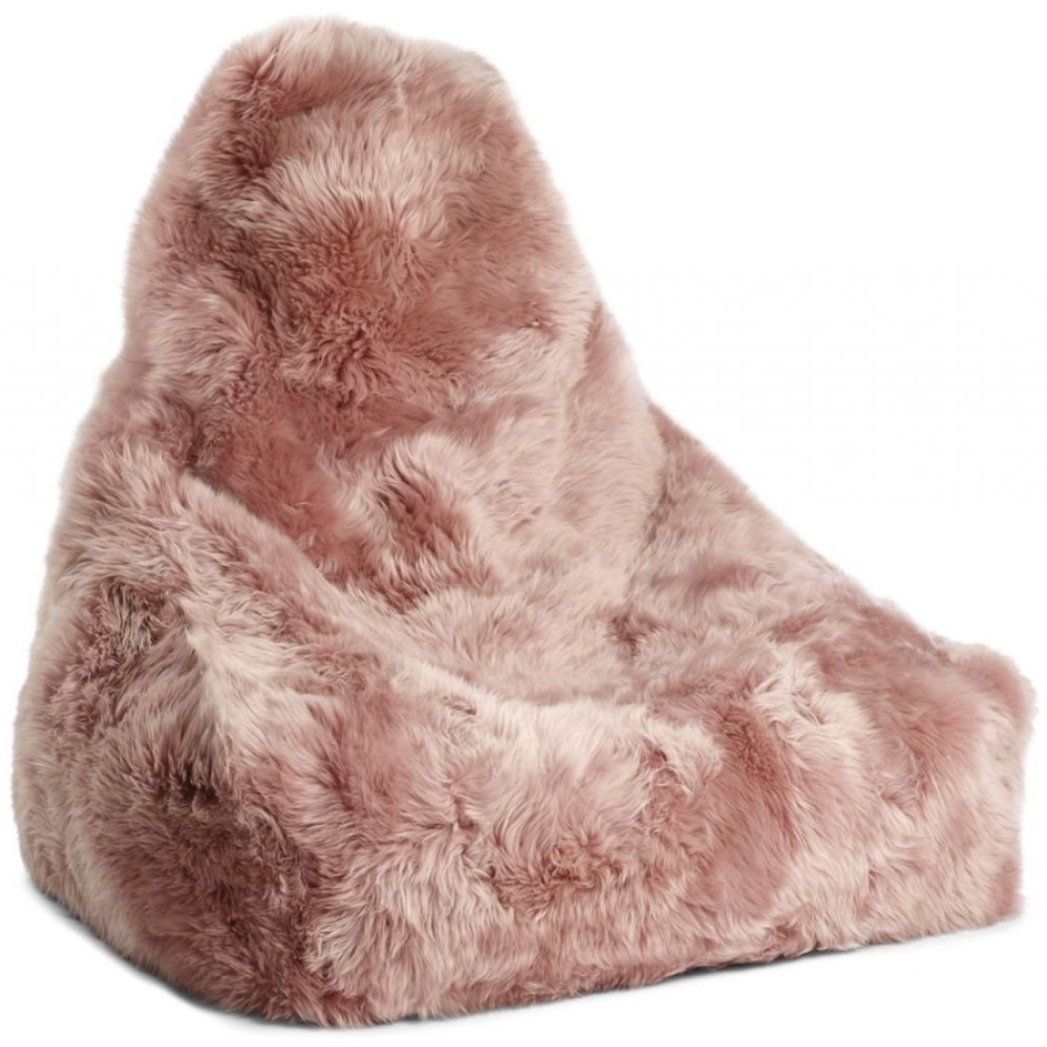 Salmon Sheepskin Beanbag