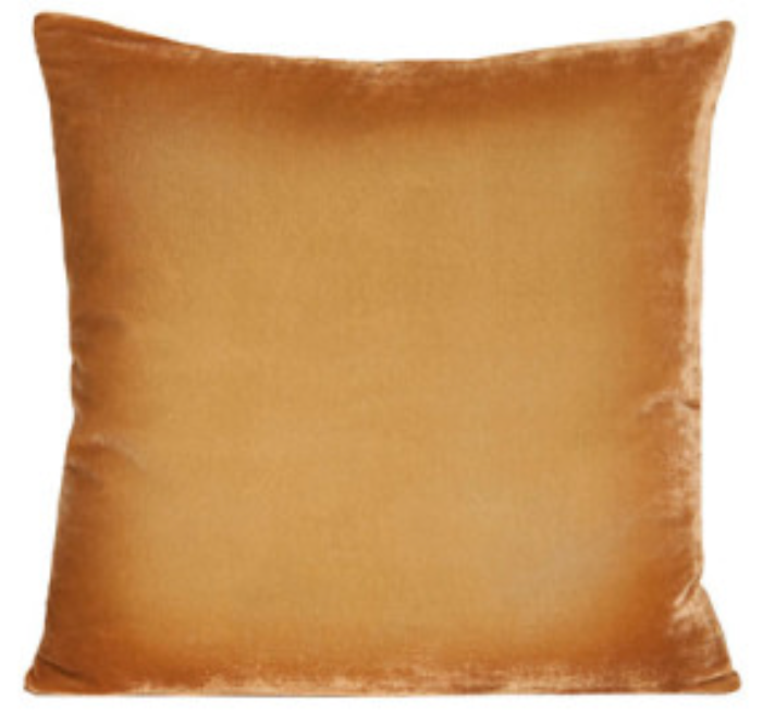 Golden Beige Velvet Pillow