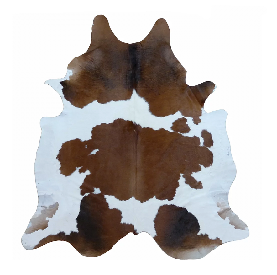 Brown and White Brazilian Cowhide