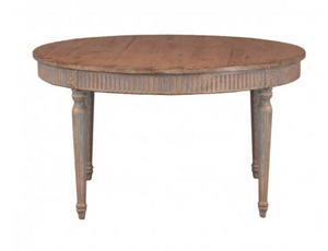 Round Pinewood Dining Table