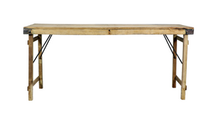 Bleached Folding Dining Table