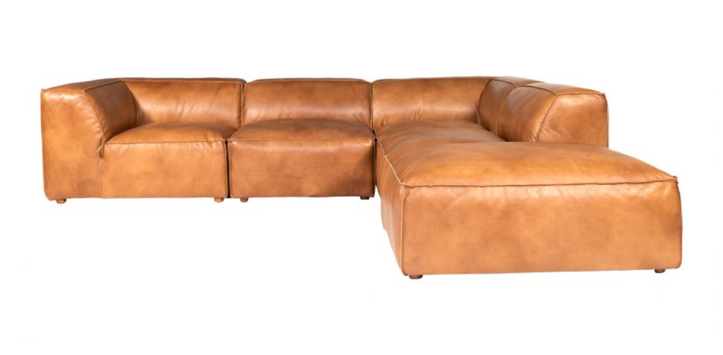 Leather Modular Sofa Tan