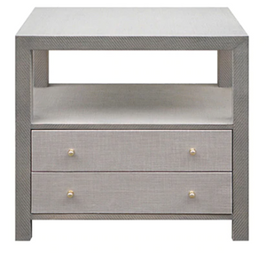 Linen Bedside Table