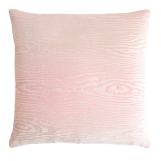 Blush Wood Velvet Pillow