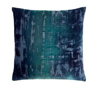 Brush Stroke Velvet Pillow in Shark- 8 Size Variants