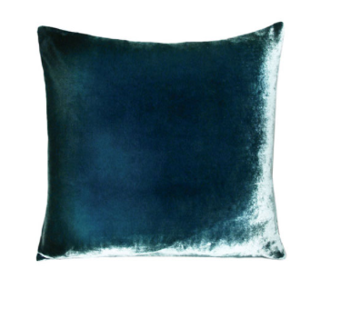 Ombre Velvet Pillow in Shark- 8 Size Variants