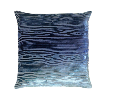 Woodgrain Velvet Pillow in Shark- 8 Size Variants