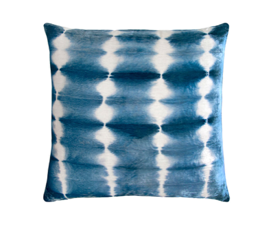 Rorschach Velvet Pillow in Azul- 4 Size Variants