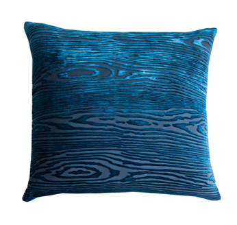 Woodgrain Velvet Pillow in Cobalt Black- 8 Size Variants